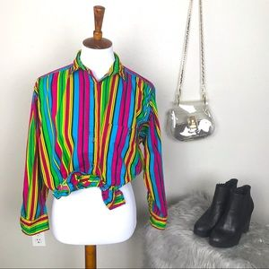 Vintage Generra Collection 90's striped button top